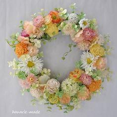 ハンドメイドマーケット minne(ミンネ)| おだやかに:white daisy wreath