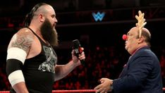 Funny sequence on WWE Monday Night Raw between Braun Strowman and Paul Heyman. Everyone is looking forward between the wrestling match of Brock Lesnar and Braun Strownman. Get these hands! Wrestling Superstars, Wrestling News, Brock Lesnar Wwe, Paul Heyman, Wwe Royal Rumble, Braun Strowman, Daniel Bryan, Aj Styles, Wwe News