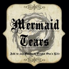 Mermaid tears label