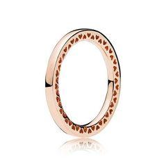 anello pandora con cuoricini