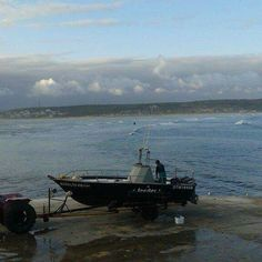 Stibaai harbour with fishing vessel South Africa