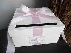 Baby Shower Custom Card Box Baptism By Astylishbabydesign On Etsy, $40.00