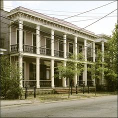 A Greek Revival home in New Orleans Louisiana.
