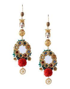 Gold-tone Enamel Clip Earrings - one size Dolce & Gabbana 0lAuxN