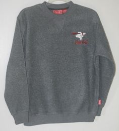 Women's Coca Cola Grey Fleece Embroidered Polar Bear Sweatshirt Small #CocaCola Winter Fashion