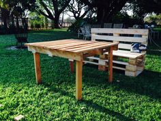 Picnic Table, Outdoor Furniture, Outdoor Decor, Projects, Home Decor, Log Projects, Blue Prints, Decoration Home, Room Decor