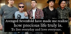 This is something I will never forget. They saved my life, million of times, and that's just awesome. One of the best band ever!!
