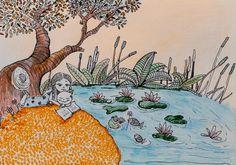 #littlehakka , #frogs , #lakelife , #reading , #girl #chinese