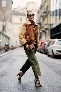 Leopard modasi, 2018 Milano Moda Haftası'ndan En Güzel Sokak Stilleri - Kadınım Mutluyum