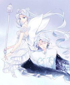 Sailor Moon - Neo Queen Serenity and Prince Diamond Sailor Moons, Sailor Moon Manga, Sailor Moon Crystal, Arte Sailor Moon, Sailor Moon Fan Art, Neo Queen Serenity, Princess Serenity, Sailor Scouts, Princesa Serena