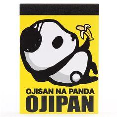 funny yellow Ojipan panda bear mini Memo Pad 1