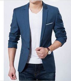 NEW! Men's Blazer Comes In Three Colors http://www.99wtf.net/trends/importance-wear-mens-shoes/