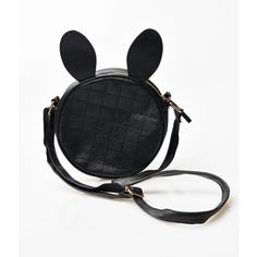 Black Quilted Leatherette Rabbit Ears Mini Crossbody Bag ($28) ❤ liked on Polyvore featuring bags, handbags, shoulder bags, accessories, black, miniature purse, mini crossbody handbags, quilted shoulder bag, mini cross body purse and mini handbags