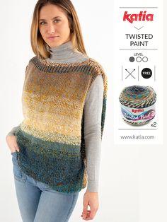 Knit Vest Pattern, Jumper Patterns, Knitting Patterns, Crochet Patterns, Crochet Poncho, Knit Or Crochet, Loom Knitting, Free Knitting, Start Knitting