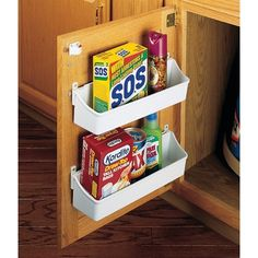 Rev-A-Shelf 6230 Series Inch 2 Shelf Door Storage White Base Cabinet Organizers Utility Racks Door Mount Storage Sets, Diy Storage, Storage Shelves, Kitchen Storage Hacks, Printer Storage, Secret Storage, Door Shelves, Pantry Storage, Rack Shelf