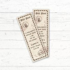 Harry Potter Printable Bookmark Favors Owl Post Marauders by CrissyDesignCo