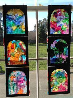 The Accidental Art Teacher blog. art projects for preschool