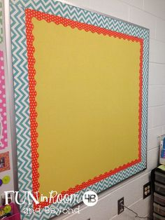 Fun in Room 4B: Making Bulletin Board Fabric Work {A Bright Idea}