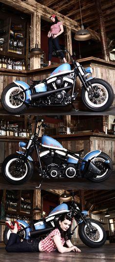 Thunderbike Roadhouse Bike - customized Harley-Davidson Softail Crossbones
