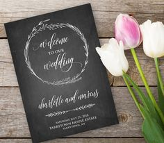 Hey, I found this really awesome Etsy listing at https://www.etsy.com/listing/280442768/chalkboard-wedding-program-template