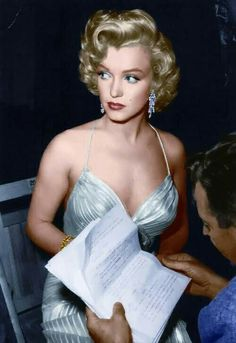 Marilyn in serious mood but still lovely.