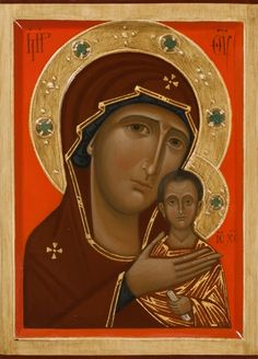 Icon of the Mother of God Petrovskaya. 2014 by Olga Shalamova