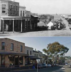 Darling St Balmain from Curtis Rd late Street View/by Les de Belin] South Australia, Western Australia, Coach Builders, Then And Now Photos, Historical Architecture, Historical Pictures, Continents, Old Photos, Balmain
