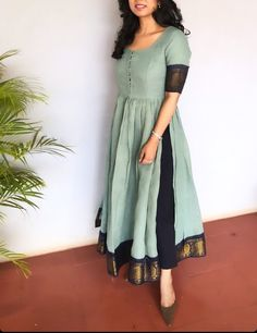 Silk Kurti Designs, Simple Kurta Designs, Kurta Designs Women, Kurti Designs Party Wear, Long Kurta Designs, Dress Indian Style, Indian Fashion Dresses, Indian Designer Outfits, Designer Kurtas For Women