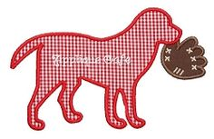 Baseball Dog Applique - 3 Sizes! | Baseball | Machine Embroidery Designs | SWAKembroidery.com Applique Cafe