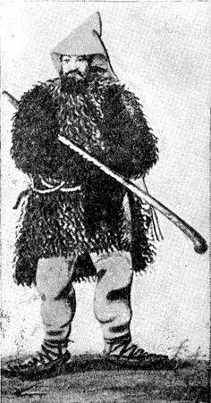 Валашский пастух. Венгерская миниатюра. 1600 г.