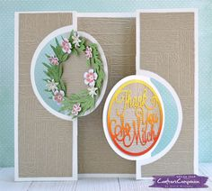 Double Circle Swing Card using Create-A-Card Kinetic Dies from Crafter's Companion