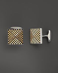 John Hardy Men's Dot 18K Gold and Sterling Silver Pyramid Cufflinks | Bloomingdale's