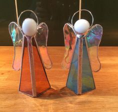 Copper foil stained glass angels