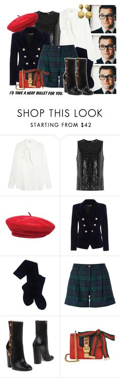 """""""didn't choose the pug life i thought it was a bulldog"""" by tinkerbellfee ❤ liked on Polyvore featuring Yves Saint Laurent, DKNY, Brixton, Balmain, Pendleton, P.A.R.O.S.H., Gucci and Chanel"""