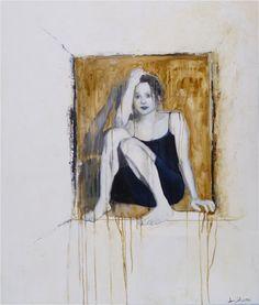 Joan Dumouchel - Just Sitting - Contemporary Artist - Figurative Painting