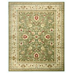 Black And Green Area Rugs beige ivory green floral victorian oriental floral area rugs 8x10