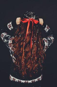 christmas hair Причёски на Новый Год своими руками. Быстро и просто. | Pulse Fashion