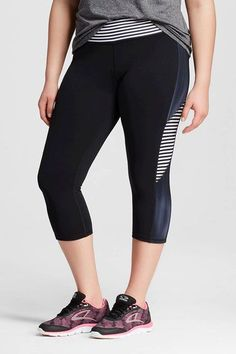 Mix up your workouts and your patterns. #refinery29 http://www.refinery29.com/best-plus-size-leggings-yoga-pants#slide-16