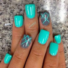 Aqua Nails, Bright Nails, Glam Nails, Shellac Nails, Toe Nails, Beauty Nails, Nail Polish, Bright Nail Designs, Gel Nail Art Designs