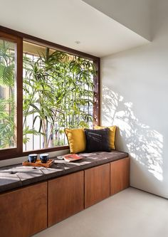 We is an award-winning architecture & interior design studio in Mumbai, India providing customised design solutions for residential and commercial projects. Bedroom Furniture Design, Room Interior Design, Home Room Design, Dream Home Design, Home Decor Bedroom, House Design, Modern Villa Design, Indian Home Interior, House Rooms