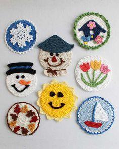 Maggie's Crochet · Four Seasons CD Coasters Crochet Pattern