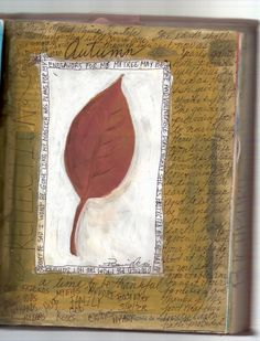 Autumn Leaf Art Journal Page