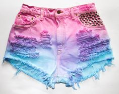 Ombre High Waisted Shorts on Wanelo
