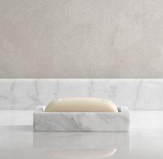 Marble Bath Accessory in Carrara from Restoration Hardware