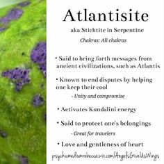 Atlantisite crystal meaning