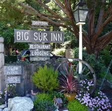 Try to book:  Deetjens Big Sur Inn.  So amazing rustic luxury, down bedding, fragrant plants everywhere, distant sound of a creek, trees. Restaurant has the greatest breakfast.  About 100 years old and only 20 rooms, try to stay here.  It's amazing.