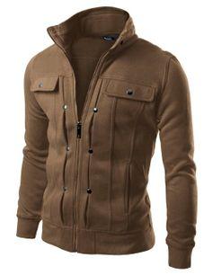 Doublju Mens Highneck Zip Up Jacket, need a different color