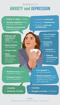 health awareness Symptoms of depression and anxiety are often very similar and can co-occur, so it is important to learn about both conditions. Listed in the illustration below are some common symptoms of depression and anxiety: Mental Health Symptoms, Health Anxiety, Mental And Emotional Health, Mental Health Quotes, Anxiety Tips, Mental Health Matters, Anxiety Help, What Is Anxiety, Signs Of Anxiety