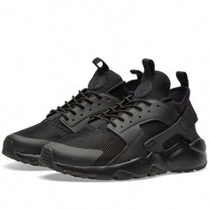 3fc0eaee37d8 Nike Air Huarache Run Ultra Triple Black 1