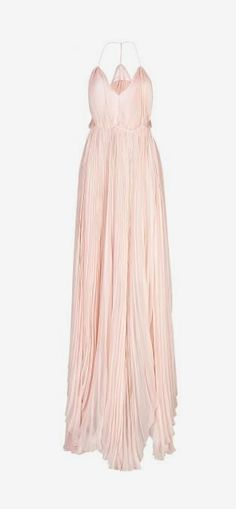 Silk Pleated Gown - Gorgeous! Rose gold is one of my favourite metals & I think this dress would be great with Rose Gold jewelry!
